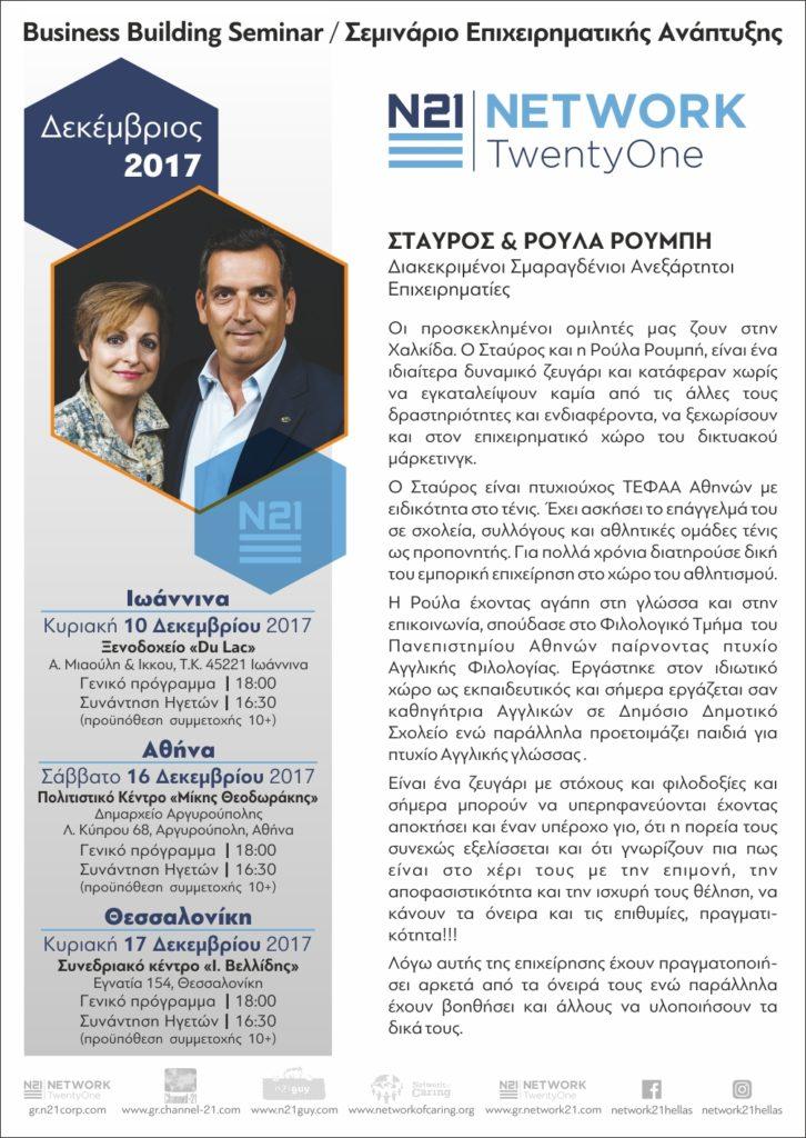 BBS Αθήνας Δεκεβρίου 2017 @ Πολιτιστικό κέντρο Μίκης Θεοδωράκης, Δημαρχείο Αργυρούπολης | Argiroupoli | Greece